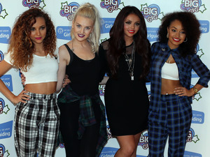 Little Mix performing at Girlguiding UK's Big Gig 2013 at Wembley Stadium.