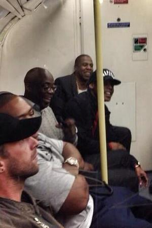 Jay Z, Chris Martin and Timbaland travel on the Tube