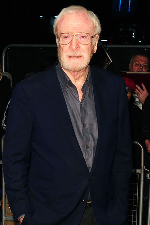 Sir Michael Caine arriving at the 57th BFI London Film Festival official screening of The Double at the Odeon West End.
