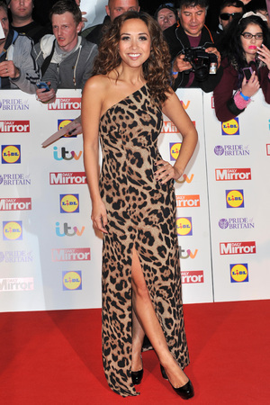 Myleene Klass arriving at the 2013 Pride of Britain awards at Grosvenor House, London.