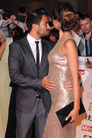 Peter Andre, Emily MacDonagh arriving at the 2013 Pride of Britain awards at Grosvenor House, London.