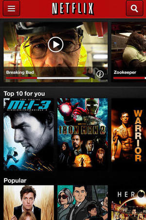 Netflix app screenshot