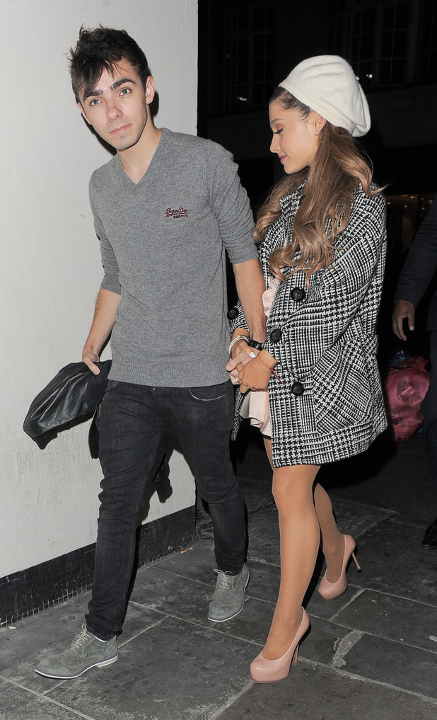 Nathan Syk and Ariana Grande