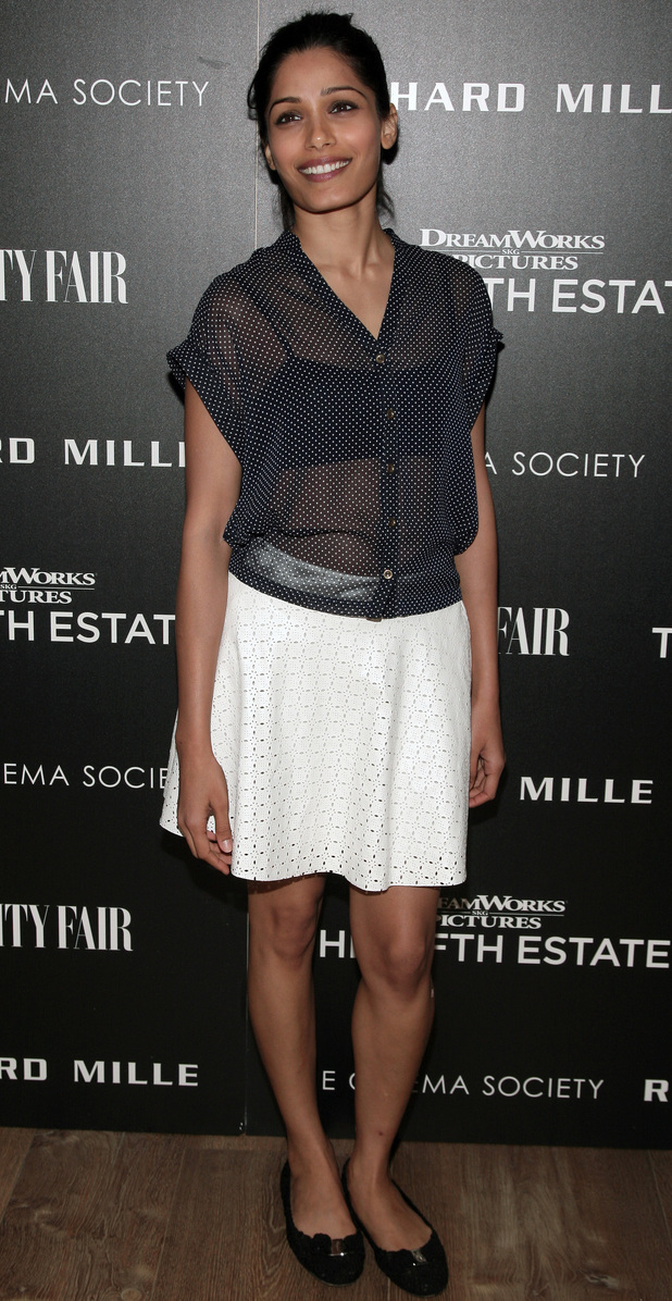 Freida Pinto attends a screening of