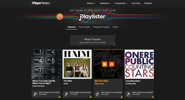 BBC Playlister screenshot