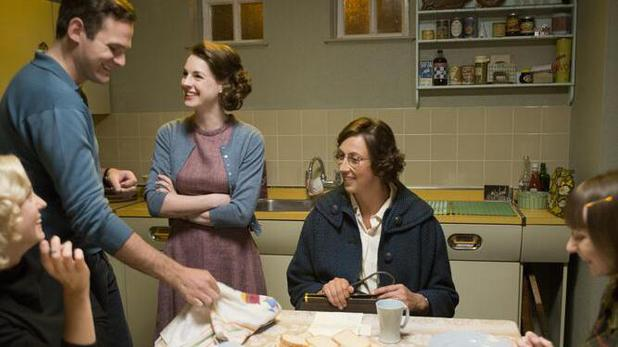 Miranda Hart on Call the Midwife set