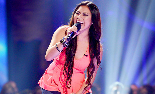 Ellona Santiago sings for a place in the girl's group on The X Factor USA