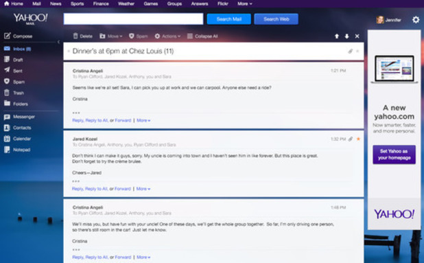 Yahoo Mail new look