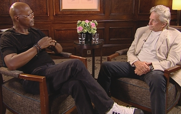 Michael Douglas speaks to Samuel L Jackson about his cancer