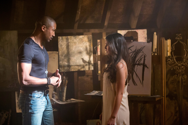Charles Michael Davis as Marcel and Danielle Campbell as Davina in 'The Originals' S01E02: 'House of the Rising Son'