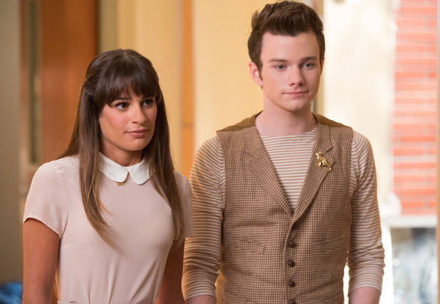 Rachel (Lea Michele) and Kurt (Chris Colfer) in Glee S05E03 'The Quarterback'