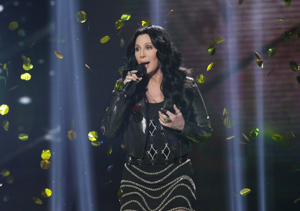 Cher performs on The X Factor results show.