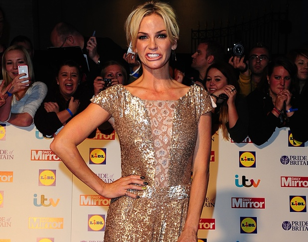 Sarah Harding arriving at the 2013 Pride of Britain awards at Grosvenor House, London.
