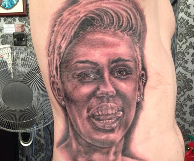 Man has 21 Miley Cyrus tattoos