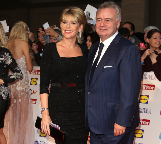 Ruth Langsford and Eammon Holmes arriving at the 2013 Pride of Britain awards at Grosvenor House, London.