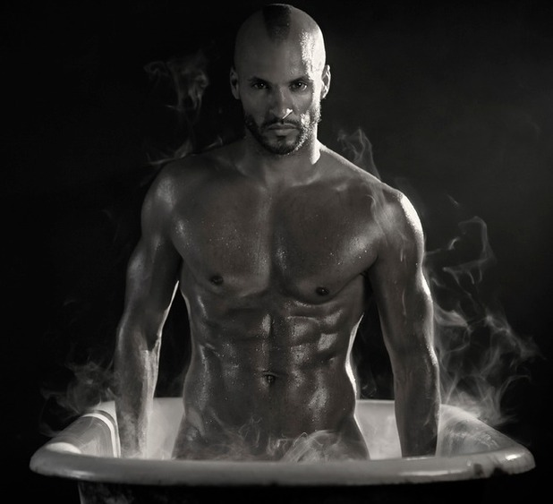 Ricky Whittle gets naked for 'In The Tub'