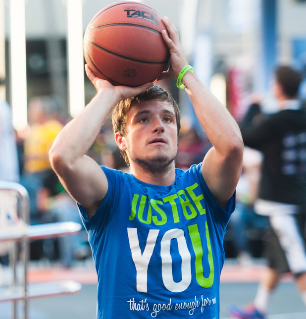 Actor Josh Hutcherson attends the 5th annual Nike basketball 3ON3 tournament presented by NBC4 southern california held at L.A. LIVE on August 9, 2013 in Los Angeles, California