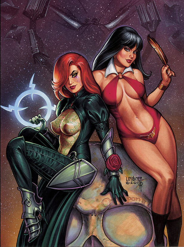 Dawn / Vampirella promo artwork
