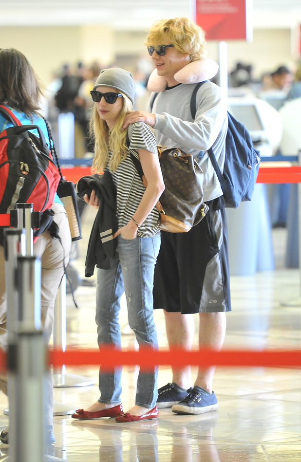 Emma Roberts and boyfriend Evan Peters
