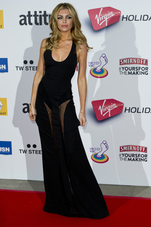 Abbey Clancy attending the 2013 Attitude Awards, held at the Royal Courts of Justice in central London.