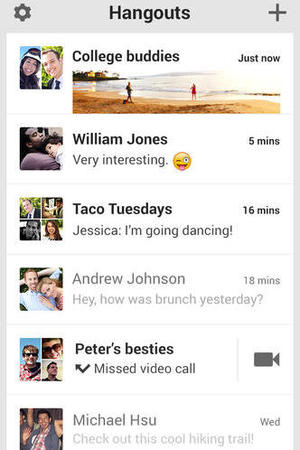 Google Hangouts iOS app