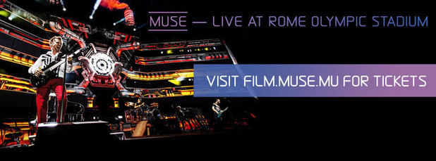Muse 'Live At Rome Olympia Stadium' concert movie poster.