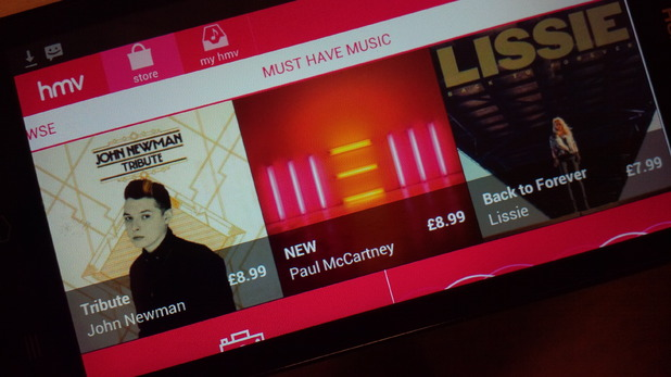 HMV digital music app.