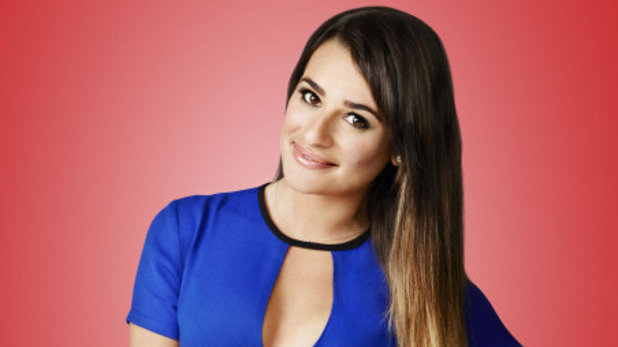 Lea Michele as Rachel Berry in Season 5 of Glee.