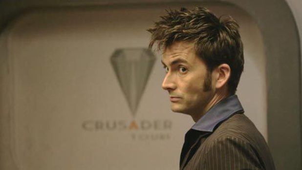 David Tennant as the Doctor in 'Doctor Who' S04xE10 'Midnight'