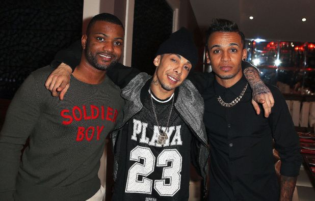 Aston Merrygold, Jonathan Gill and Dino Contostavlos, Elbrook Fundraiser at Chak 89 restaurant in Aid of the National Autistic Society, London, Britain - 17 Oct 2013