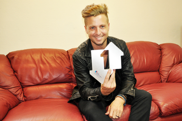 OneRepublic's Ryan Tedder celebrates his number one single