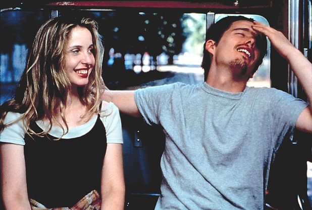 Ethan Hawke as Jesse and Julie Delpy as Celine in 'Before Sunrise'