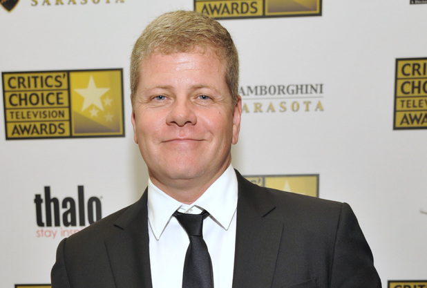 "Michael Cudlitz poses backstage with his award for best supporting actor in a drama series for ""Southland"" at the Critics' Choice Television Awards in the Beverly Hilton Hotel on Monday, June 10, 2013"