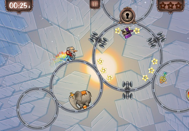 Ring Run Circus mobile game screenshot
