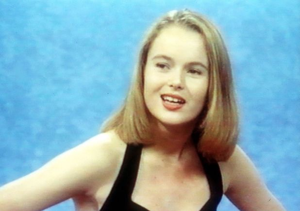 REX/ITVAmanda Holden appearing on Blind Date, Britain - 1990Amanda Holden appearing on 'Blind Date' - 1990 1990