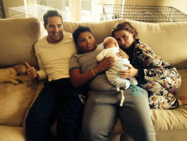 Katie Price in family portrait