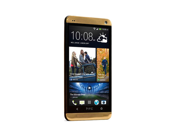Gold HTC One phone