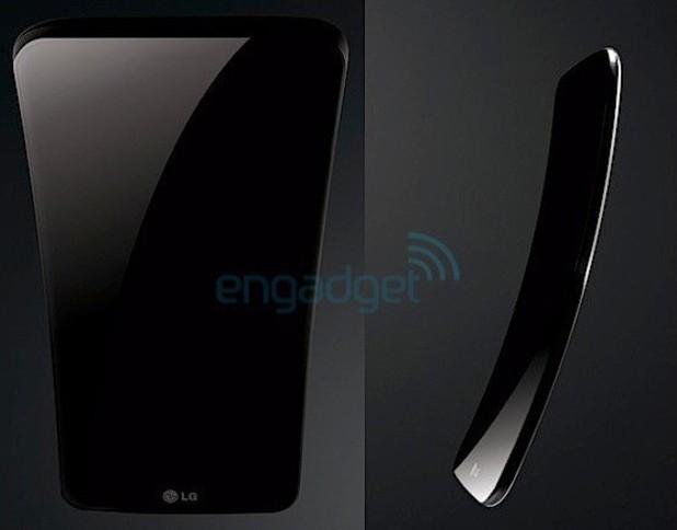 LG 'G Flex' curved smartphone leak