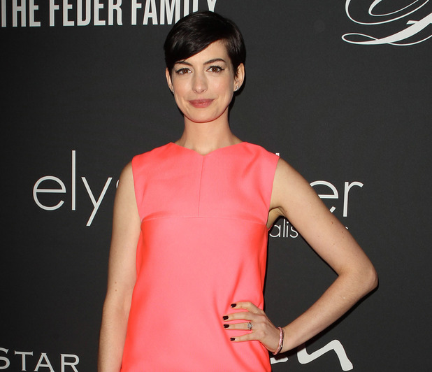 Anne Hathaway attends the The Pink Party 2013 Hosted By Anne Hathaway Held at Barker Hangar