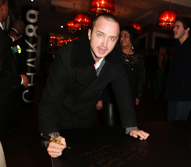 Aaron Paul, Elbrook Fundraiser at Chak 89 restaurant in Aid of the National Autistic Society, London, Britain - 17 Oct 2013