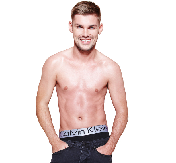 Kieron Richardson poses for 'Attitude'