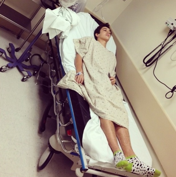 Austin Mahone in hospital