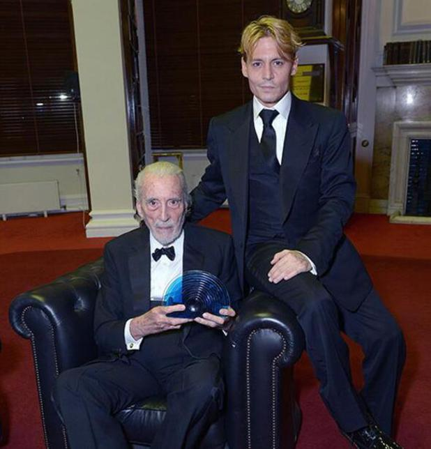 Johnny Depp gives Sir Christopher Lee the BFI Fellowship