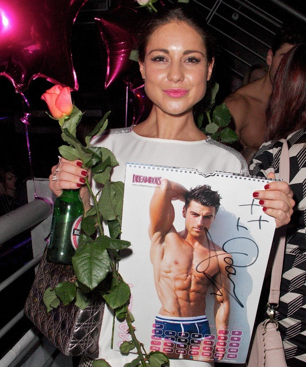 Louise Thompson gets a Dreamboys souvenir