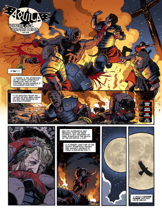 2000 AD Prog 1854 Aquila 'Where All Roads Lead' Part 4