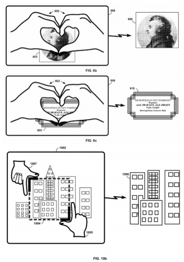 Google patents 'heart hand' gesture for Google Glass
