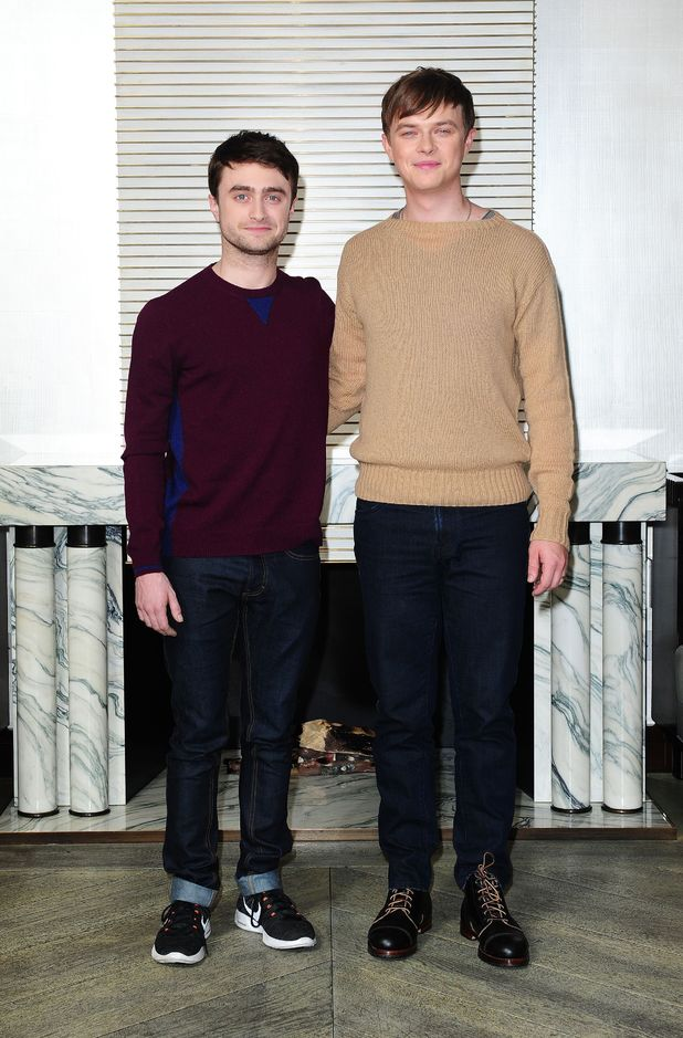 Daniel Radcliffe and Dane DeHaan during a photocall at the Corinthia Hotel in London, before the premiere of their new film 'Kill Your Darlings', as part of of the BFI London Film Festival.