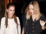 Cheryl Cole and Kimberley Walsh leaving Zuma Restaurant, London, Britain