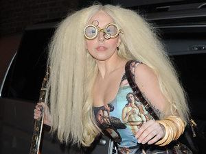 Lady Gaga seen leaving her london hotel and heading off to The Ring gym studios in london for rehersals ahead of her xfactor performance.