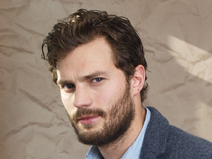 Jamie Dornan poses for a photoshoot in Soho.